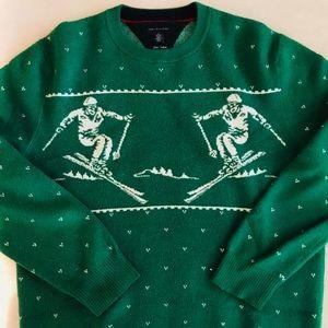 Retro Knit Ski Print Sweater